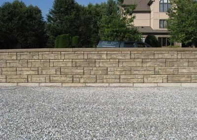 Custom Tan Stone Retaining Wall Color Project