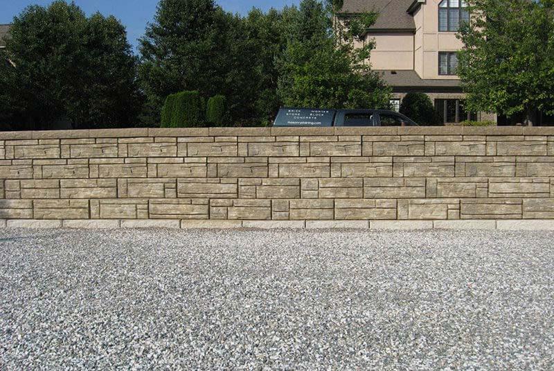 Custom Tan Stone Retaining Wall Color Project