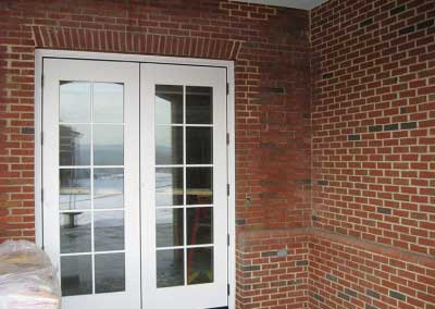 Before-mortar color stands out , making the bricks even appear the wrong color