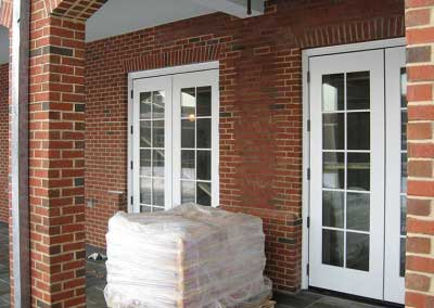 Before: mortar color stands out , making the bricks even appear the wrong color