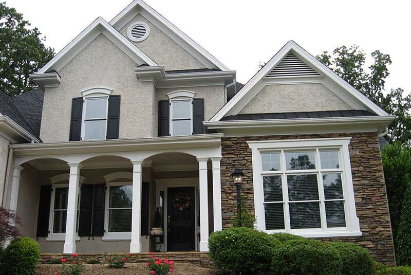 Correcting Stone Color Colonial Style Home Project