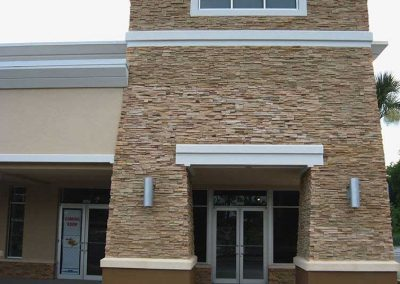 After - All stone corners and flat pieces are an exact match and blended flawlessly to the rest of the correct color flats