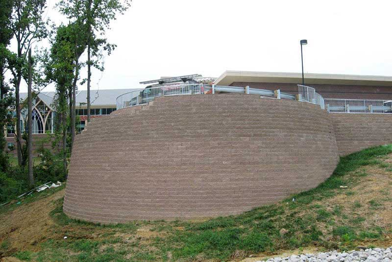 Matching Concrete Retaining Wall Block Color
