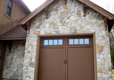 Before - The stone color dye lot appears too light compared to surrounding, existing stone