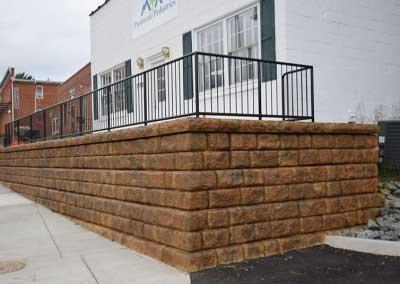 Municipal Retaining Wall Color Project
