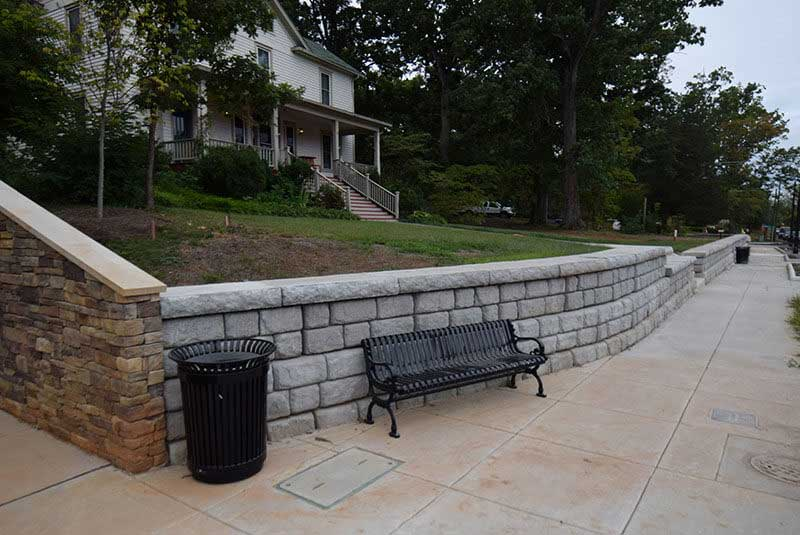 Before retaining wall remodel