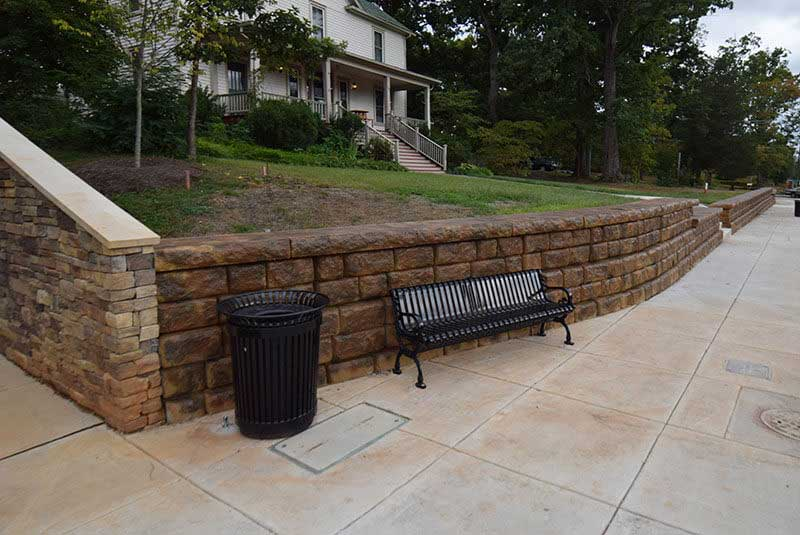 After Retaining Wall Color Change