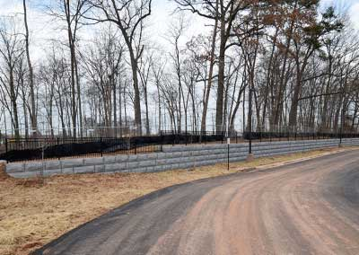 Custom Gray Color Retaining Wall Project