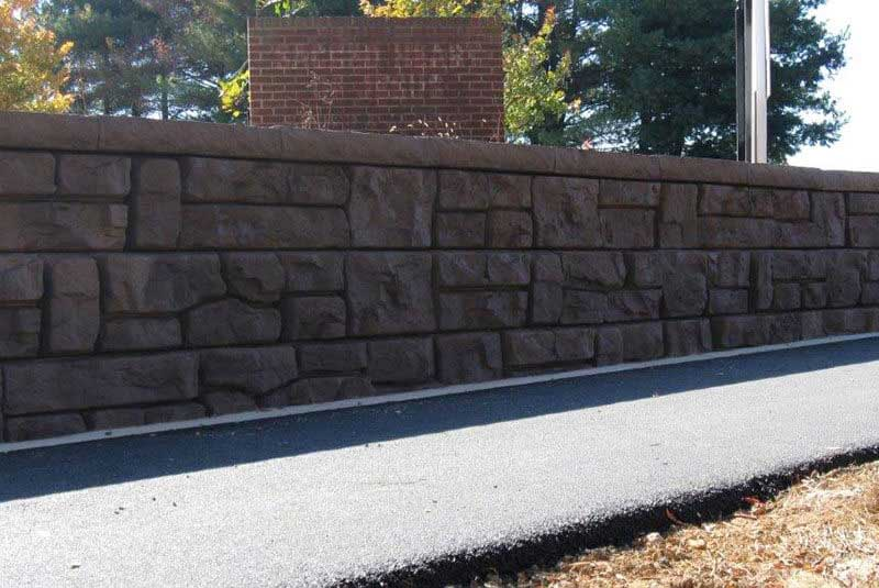 Fixing Retaining Wall Color That is Coming Off or Fading
