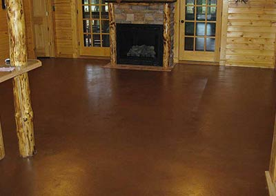Custom Color Concrete Floor Stain and Sealer