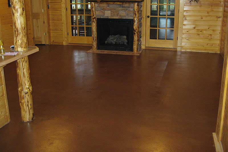 Custom Color Concrete Floor Stain