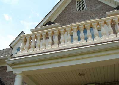 Before: Discolored Cast Stone was impacted by efflorescence caused the owner concern.