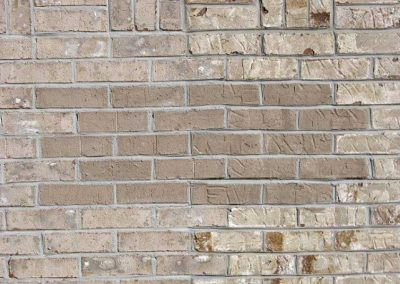 Before- a brick vent needed to be filled in and a uniform color the same texture was chosen.