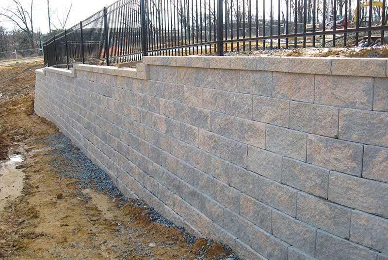 Swirled Color Fix on CMU Concrete Masonry Retaining Wall