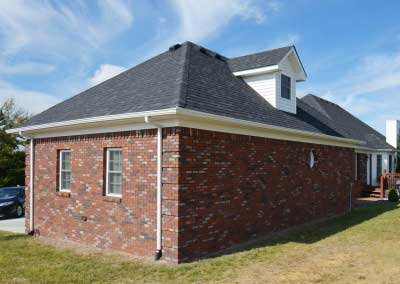 After matching brick on a remodeled home