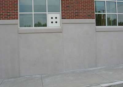 After-precast color is lightened to an exact match to surrounding panels. The glittering flecks were unaffected by our sheer, natural products, with amazing results.