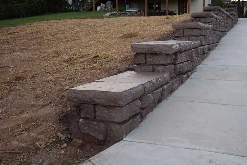 Matching Color for a Two Phase Retaining Wall