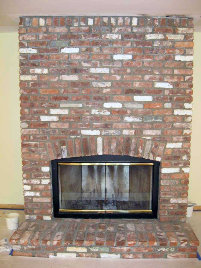 Fireplace Design remodel brick fireplace : Brick Fireplace Remodel - Exact Match Masonry Staining