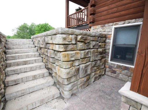 Custom Redi-Rock® Retaining Wall Cabin Home Project