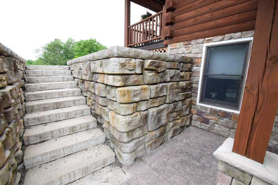 custom redi-rock retaining wall
