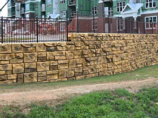Ozark Bluffs Beige Redi-Rock® Retaining Wall Project