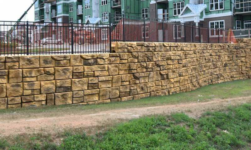 redi-rock retaining wall project