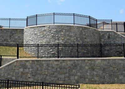 After - Stone-Strong, back wall, is transformed with the Most Natural Colors on Earth ™ to the Look of Real Rock.