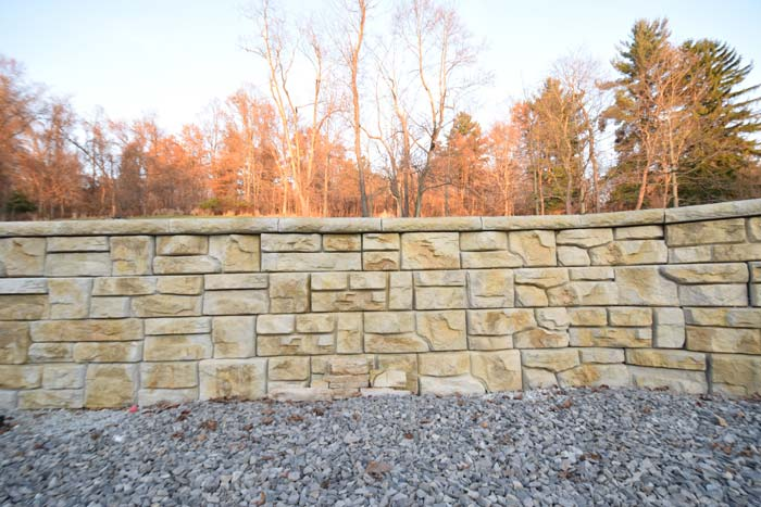 Redi-Rock to Match Stone Home - After