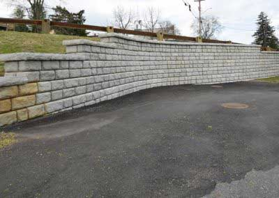 Before Redi-Rock Cobblestone is Matched to Natural Stone