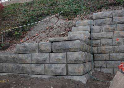 After Custom Color for Stone-Strong Retaining Wall