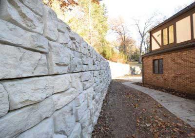 Before Plain Concrete Transforms to Standard Colors for Redi-Rock Ledgestone Sorrel Canyon Rose Brown Colors