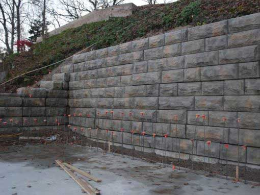Stone Strong Walls Custom Colored to Beautify Lake Front Beach Area