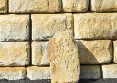 After Redi-Rock Cobblestone is Matched to Natural Stone