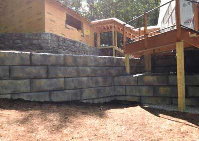 After Matching A New Redi-Rock Wall to An Existing Redi-Rock Wall