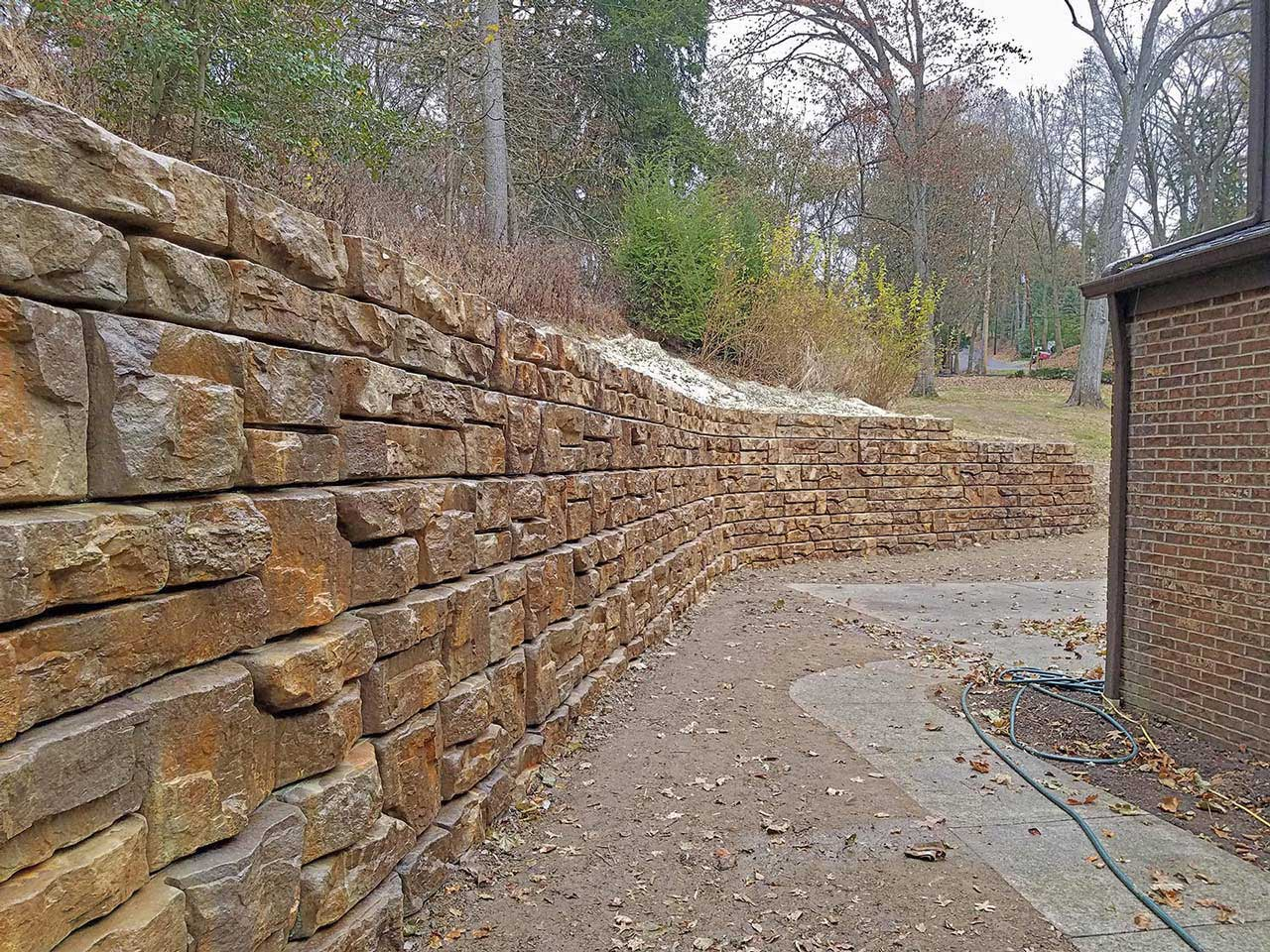 How To Make Residential Redi Rock Walls Blend In To Nature